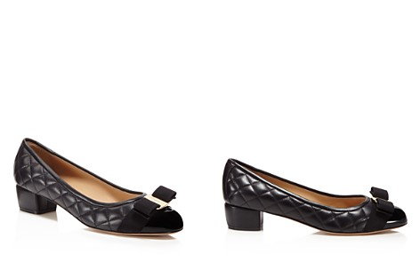 Salvatore Ferragamo Vara Quilted Leather Low Heel Pumps - Bloomingdale's_2