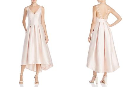 Carmen Marc Valvo Infusion Beaded V-Neck Midi Dress - Bloomingdale's_2