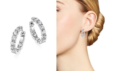 Diamond Inside Out Hoop Earrings in 14K White Gold, 4.0 ct. t.w. - 100% Exclusive - Bloomingdale's_2