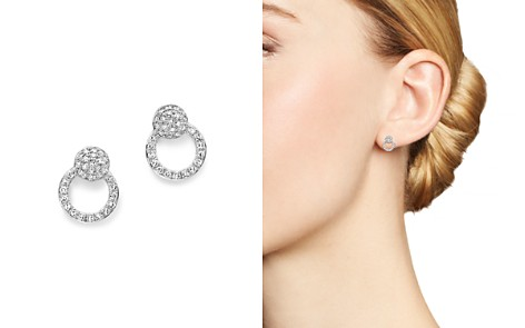 KC Designs 14K White Gold Diamond Mini Circle Earrings - Bloomingdale's_2