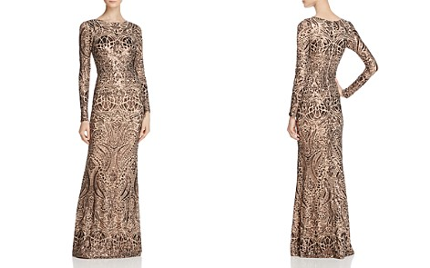 Avery G Long-Sleeve Sequin Gown - Bloomingdale's_2