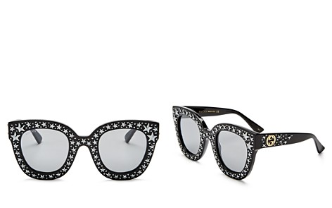 Gucci Oversized Swarvoski Stars Cat Eye Sunglasses, 50mm - Bloomingdale's_2