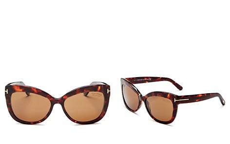 Tom Ford Women's Allistair Oversized Polarized Cat Eye Sunglasses, 56mm - Bloomingdale's_2