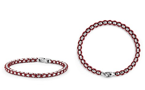 David Yurman Woven Box Chain Bracelet in Red - Bloomingdale's_2