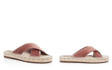 Joie Ianna Velvet Crisscross Espadrille Slide Sandals - Bloomingdale's_2