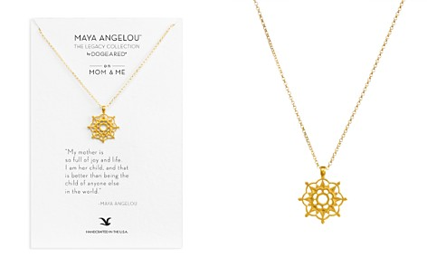 "Dogeared Maya Angelou Legacy Collection ""On Mom & Me"" Necklace, 18"" - Bloomingdale's_2"
