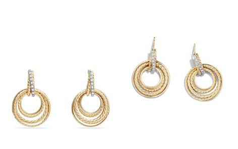 David Yurman Crossover Drop Earrings with Diamonds in 18K Gold - Bloomingdale's_2