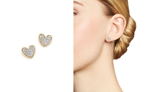 Adina Reyter 14K Yellow Gold Tiny Pavé Diamond Folded Heart Stud Earrings - Bloomingdale's_2