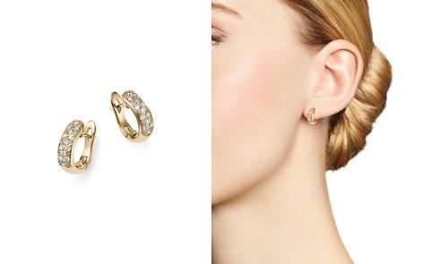 Diamond Huggie Hoop Earrings in 14K Yellow Gold, .30 ct. t.w. - 100% Exclusive - Bloomingdale's_2