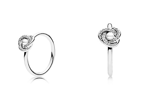 PANDORA Sterling Silver, Crystal & Cubic Zirconia Luminous Love Knot Ring - Bloomingdale's_2