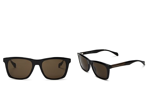 Hugo Boss Wood Temple Square Sunglasses, 50mm - Bloomingdale's_2