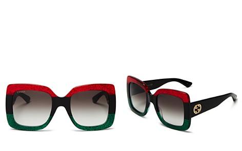Gucci Urban Web Block Oversized Square Sunglasses, 51mm - Bloomingdale's_2