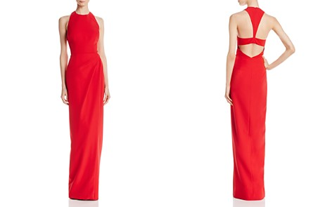 JS Collections Back-Cutout Ruched Gown - Bloomingdale's_2