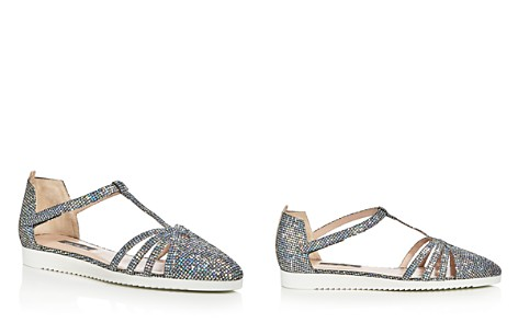 SJP by Sarah Jessica Parker Meteor Glitter T-Strap Flats - Bloomingdale's_2