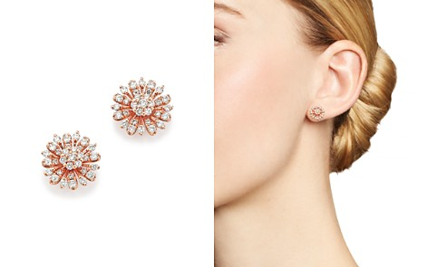 Diamond Flower Stud Earrings in 14K Rose Gold, 65 ct. t.w. - 100% Exclusive - Bloomingdale's_2