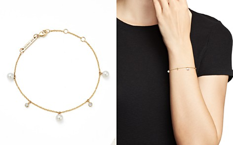 Zoë Chicco 14K Yellow Gold Cultured Freshwater Pearl and Diamond Charm Bracelet - Bloomingdale's_2