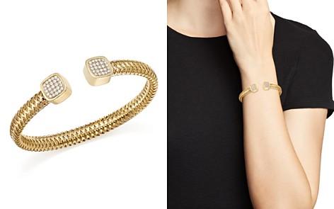 Roberto Coin 18K Yellow Gold Primavera Diamond Capped Cuff - Bloomingdale's_2