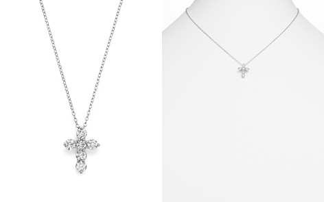 Diamond Cross Pendant Necklace in 14K White Gold, 1.0 ct. t.w. - 100% Exclusive - Bloomingdale's_2
