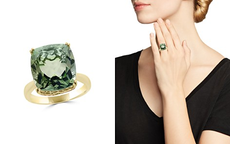 Prasiolite Cushion and Diamond Ring in 14K Yellow Gold - 100% Exclusive - Bloomingdale's_2