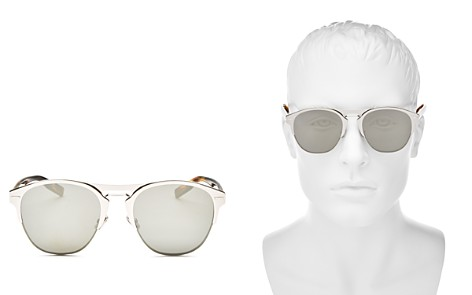 Dior Homme Men's Diorchrome Mirrored Round Sunglasses, 51mm - Bloomingdale's_2