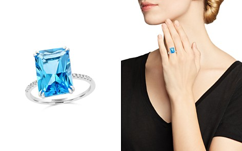 Blue Topaz and Diamond Statement Ring in 14K White Gold - 100% Exclusive - Bloomingdale's_2