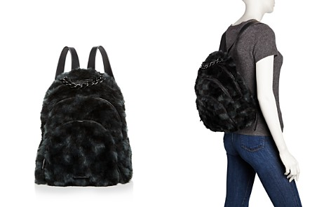 KENDALL and KYLIE Sloane Checkered Faux-Fur Backpack - 100% Exclusive - Bloomingdale's_2