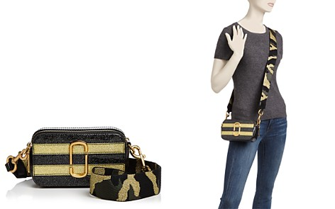 MARC JACOBS Snapshot Glitter Stripe Leather Camera Bag - Bloomingdale's_2
