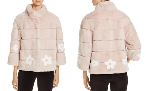 Maximilian Furs Rabbit Fur Floral Jacket - 100% Exclusive - Bloomingdale's_2