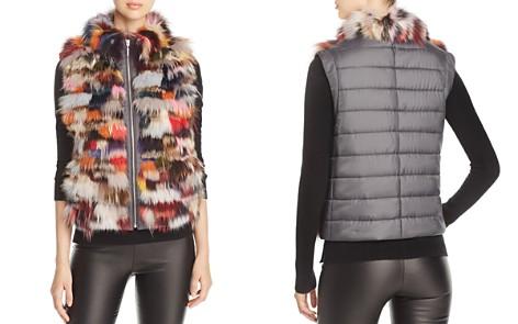 Maximilian Furs Saga Fox Fur Mixed Media Vest - 100% Exclusive - Bloomingdale's_2