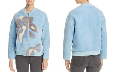 Maximilian Furs Floral Lamb Shearling Coat - 100% Exclusive - Bloomingdale's_2