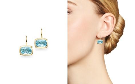 Blue Topaz Drop Earrings in 14K Yellow Gold - 100% Exclusive - Bloomingdale's_2