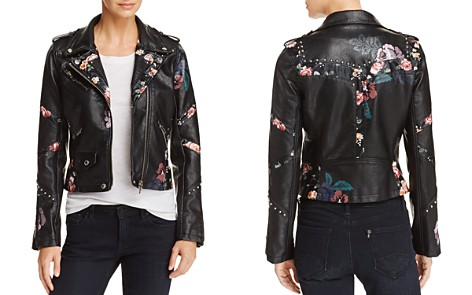 BLANKNYC Floral-Inset Faux Leather Moto Jacket - 100% Exclusive - Bloomingdale's_2