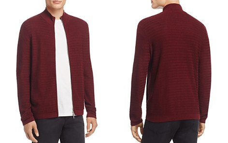 Theory Avell Breach Herringbone Zip Cardigan - 100% Exclusive - Bloomingdale's_2
