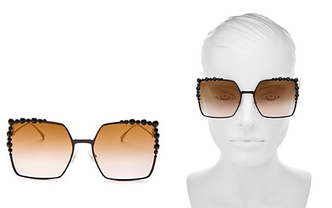 Fendi Women's Embellished Oversized Square Sunglasses, 60mm - Bloomingdale's_2