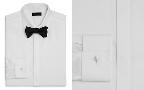 Theory Textured Slim Fit Tuxedo Shirt - Bloomingdale's_2