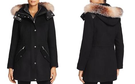 Andrew Marc Brynn Fox Fur Trim Coat - Bloomingdale's_2