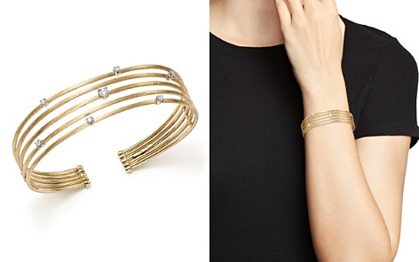Marco Bicego 18K White and Yellow Gold Luce Diamond Cuff Bracelet - 100% Exclusive - Bloomingdale's_2