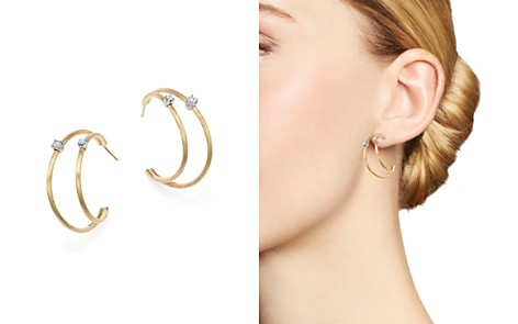 Marco Bicego 18K Yellow Gold Luce Diamond Double Hoop Earrings - 100% Exclusive - Bloomingdale's_2