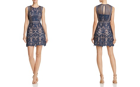 AQUA Fishnet and Lace Dress - 100% Exclusive - Bloomingdale's_2
