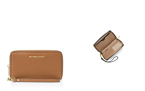 MICHAEL Michael Kors Flat Multi-Function Large Leather Smartphone Wristlet - Bloomingdale's_2