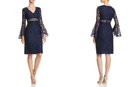 AQUA Bell-Sleeve Lace Dress - 100% Exclusive - Bloomingdale's_2