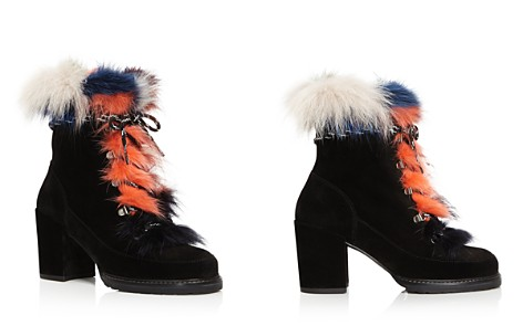 Stuart Weitzman Yukon Mink Fur and Suede Lace Up Booties - Bloomingdale's_2