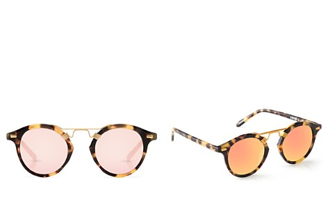 Krewe Women's St. Louis 24K Mirrored Round Sunglasses, 46mm - Bloomingdale's_2