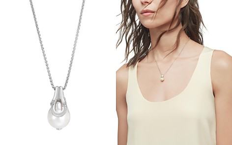 """John Hardy Sterling Silver Bamboo Box Chain and Cultured Freshwater Pearl Pendant Necklace, 16"""" - Bloomingdale's_2"""