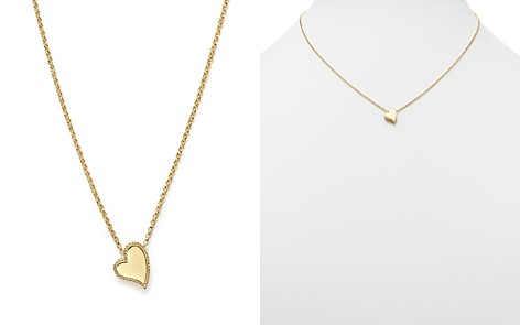 "Roberto Coin 18K Yellow Gold Tiny Treasures Heart Pendant Necklace, 17"" - Bloomingdale's_2"