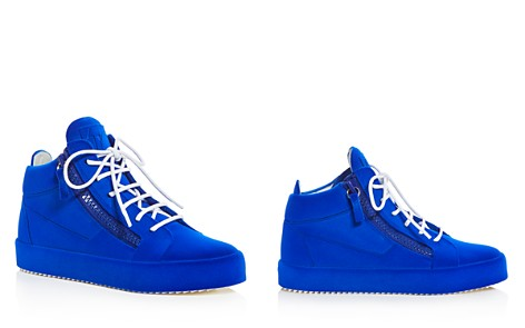 Giuseppe Zanotti Women's Velvet Mid Top Platform Sneakers - Bloomingdale's_2