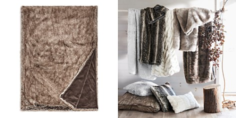 Hudson Park Frosted Faux Fur Throw - 100% Exclusive - Bloomingdale's_2
