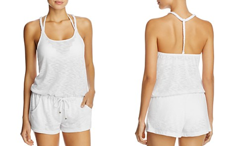 BECCA® by Rebecca Virtue Breezy Basic Romper Swim Cover-Up - Bloomingdale's_2