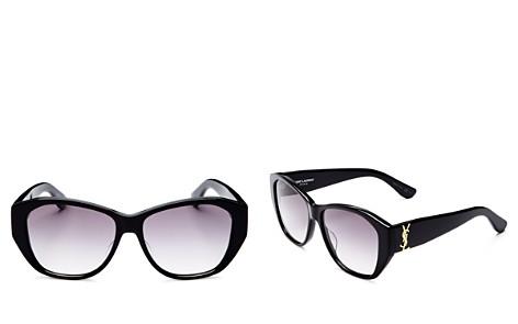 Saint Laurent Square Sunglasses, 55mm - Bloomingdale's_2