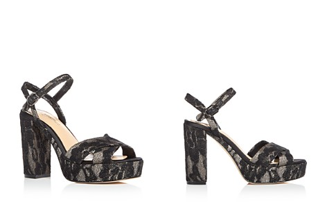 Imagine VINCE CAMUTO Women's Valora Satin & Lace Block Heel Platform Sandals - Bloomingdale's_2